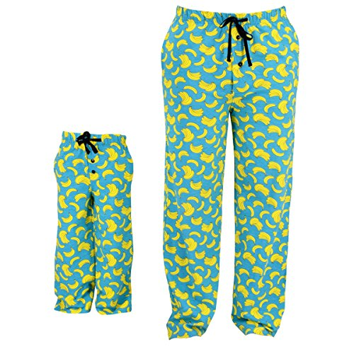 UB Adult Banana Print Matching Family Father's Day Pajama Pants (XXL)