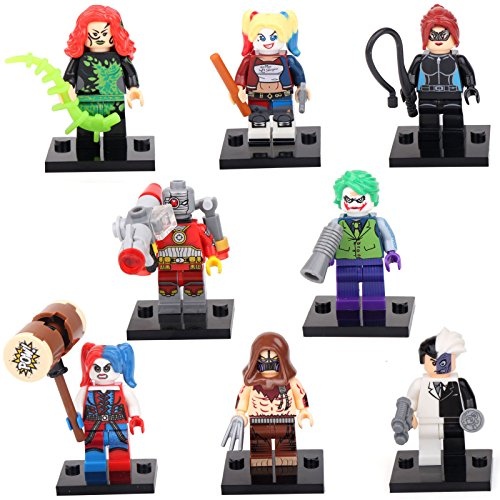 [Lego Mini-figure Set (Megamind, Deadshot, Poison Ivy, Joker, Two-Face)] (Baby Megamind Costume)