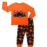 Toddler Boys Girls Long Sleeve Pajamas Set 100% Cotton Halloween Sleepwear Toddler T-Shirt & Pants Pjs Sets 2-6T