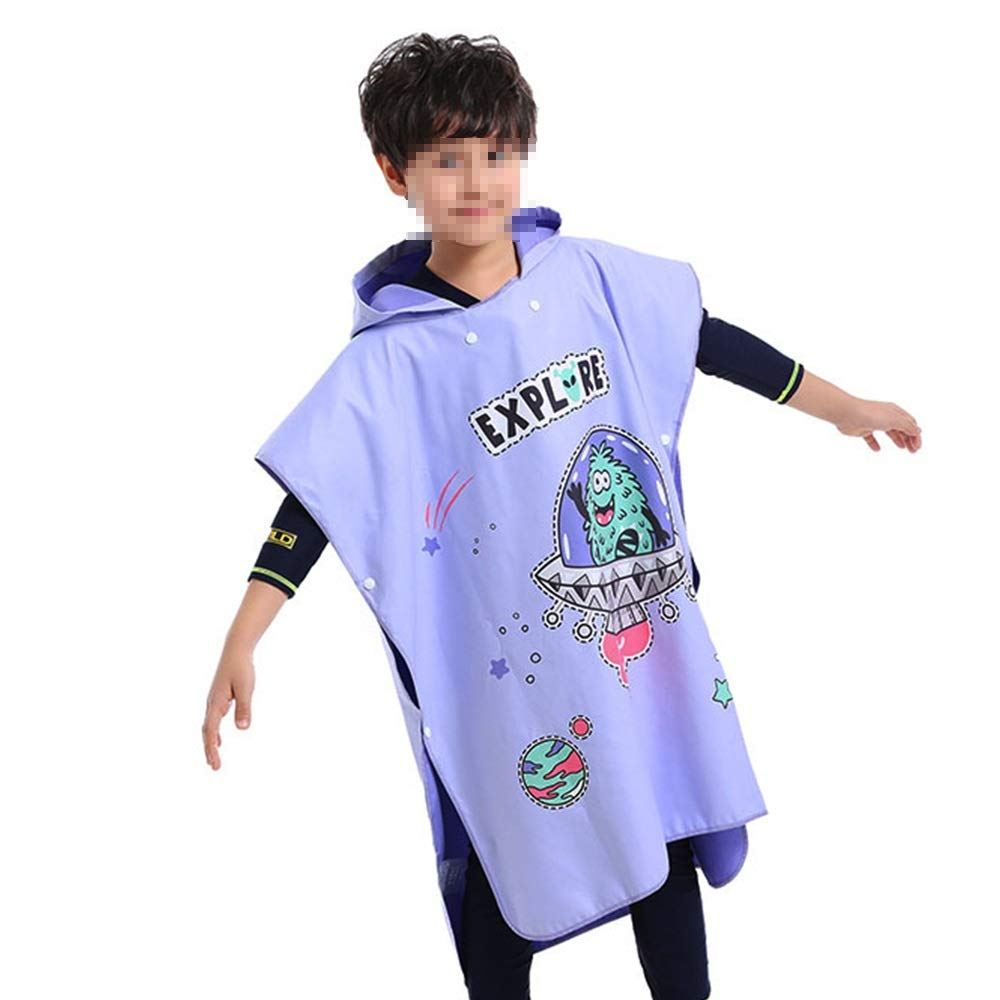 BWAM-tak Kids Hooded Ponchos Hooded Bath Towel for Kids Boys Girls Fast Drying Beach Towel for Swim Pool Ultra Absorbent Cotton Poncho Bath Towel Swimming Bath Towel