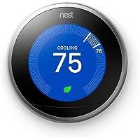 Google Nest 3rd Generation Learning Thermostat (Stainless Steel) + $40 Kohls Cash