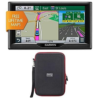 "Garmin nuvi 67LM 6"" 010-01399-01 Essential Series 2015 GPS System with Lifetime Maps PocketPro XL Hardshell Case Bundle"