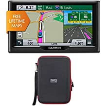"Garmin nuvi 67LM 6"" 010-01399-01 Essential Series 2015 GPS System with Lifetime Maps PocketPro XL Hardshell Case..."