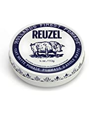 Reuzel - Clay Matte Medium Hold Water Soluble Pomade For Men - No Shine - For All Types Of Styles - Mouldable & Flexible Hold - Vanilla Mint Scent - Create Volume, Texture & Height - 4 oz, 113 g
