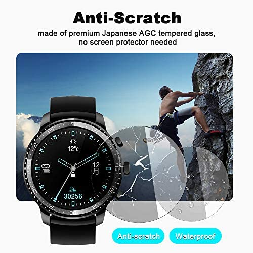 Tinwoo Smart Watch for Men, Support Wireless Charging, Bluetooth Fitness Tracker with Heart Rate Monitor, 2020 Version Smartwatch for Android Phones Compatible with iPhone Samsung 51Gawfa 4qL