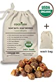 organic soap nuts - Cocoboo 100% Organic Soap Nuts, USDA Organic Certified, Handpicked & Sun Dried, Laundry Soap Hypoallergenic, Chemical Free, 240+ loads, include wash bag, 1 Pound