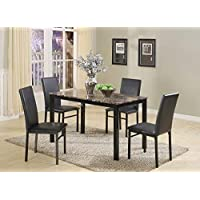 Roundhill Furniture 5 Piece Citico Metal Dinette Set
