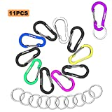 WAPAG Carabiner Clip Keychain Aluminum Strong Lightweight Small Caribeaner Keyrings Multi Function Mini Spring Hooks for Small Items Keys for Home Camping Hiking Traveling Fishing …