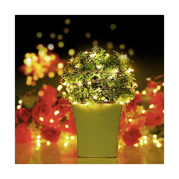 Stringa Luci LED Batteria, 2 Pacchi 4M 40 LEDs Catena Luminosa, Luci Natale Impermeabili per Natalizie Decorazioni Interni ed Esterni (Bianco Caldo) 4 spesavip