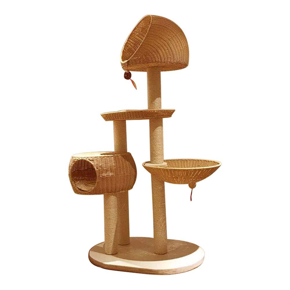 100 *58 *160 Cat Climbing Frame Rattan Climbing Frame Cat Tree House Cat Casa Villa Cat Toy Jumping Platform Cat Scrutting Colonn Sisal,100 * 58 * 160