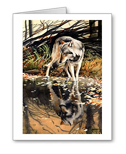 Rogers Reflection - Wolf Reflection - Set of 10 Note Cards With Envelopes
