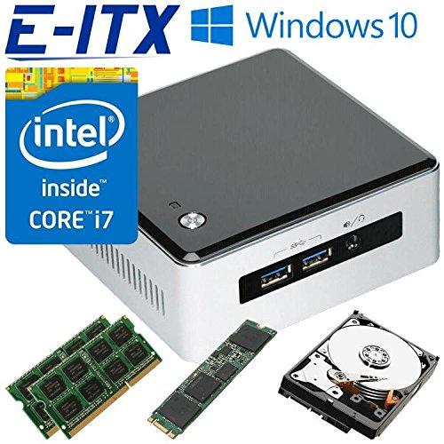 Intel NUC5i7RYH Core i7-5557U NUC System (BOXNUC5i7RYH) , 32GB Dual Channel DDR3L Memory , 60GB M.2 SSD , 2TB HDD, WiFi, Bluetooth, Window 10 Pro Installed & Configured by E-ITX
