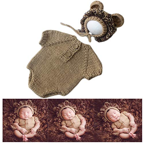 Handmade Lion Costume - Baby Photography Props Lion Hats Rompers