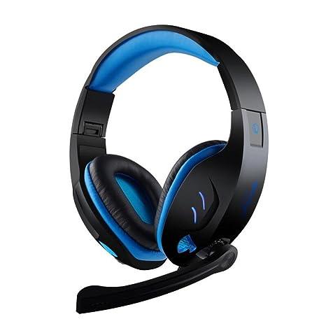 Joyeer Auriculares para Juegos Sobre la Oreja Auriculares Plegables Que Brillan intensamente Auriculares con Cable y