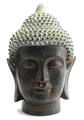 - Smiling Meditating Buddha Shakyamuni Head Statue 10.5