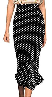 Viwenni Women's Vintage High Waist Wear to Work Bodycon Mermaid Pencil Skirt