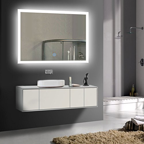 Wall Mounted Lighted Vanity Mirror Led