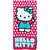 JP Import Hello Kitty Beach Towel - Officially Licensed 100% Cotton Oversize 60'' X 30''