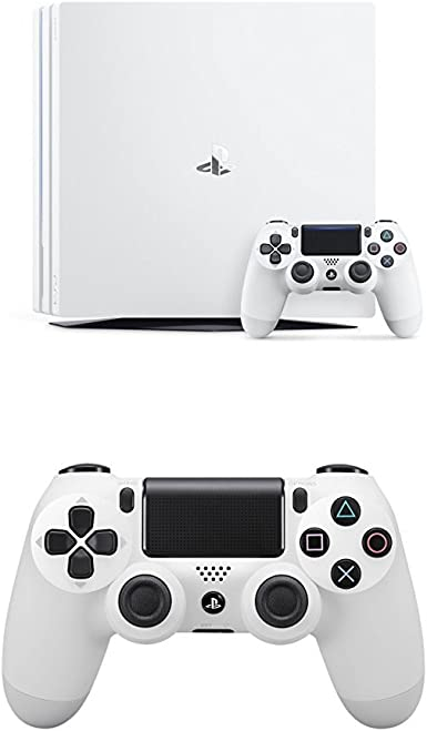 PlayStation 4 Pro (PS4) - Consola, Color Blanco + Dualshock 4 V2 Mando Inalámbrico, Color Blanco V2 (PS4): Amazon.es: Videojuegos