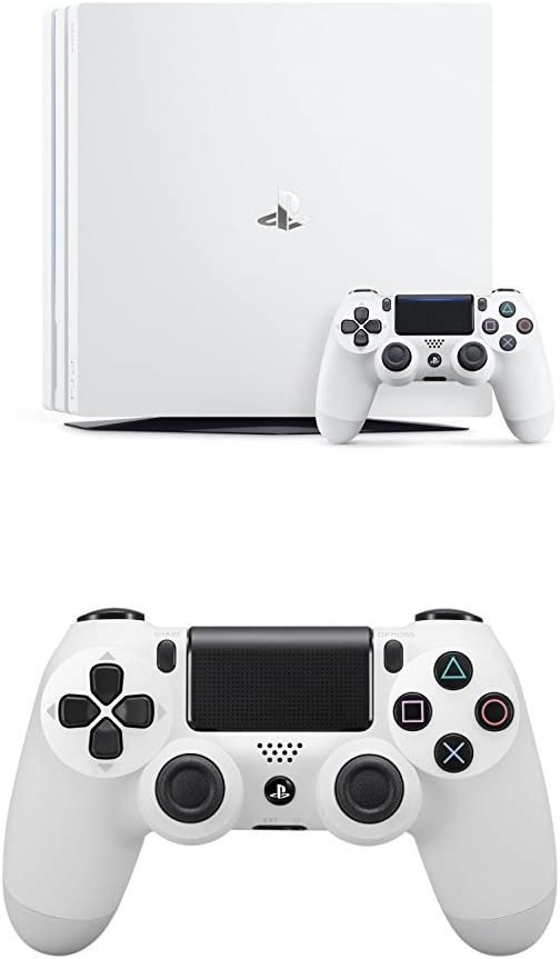 PlayStation 4 Pro (PS4) - Consola, Color Blanco + Dualshock 4 V2 Mando Inalámbrico, Color Blanco V2 (PS4): Amazon.es: Videojuegos