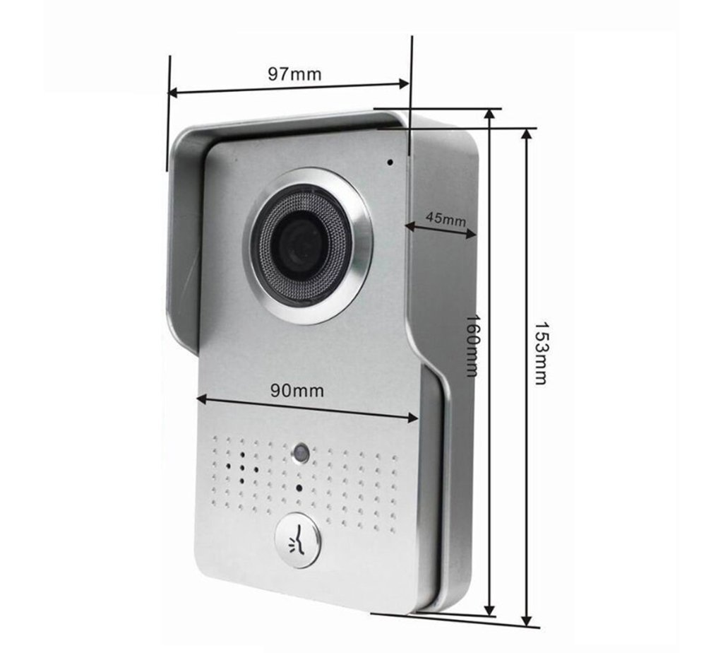 Wireless Visual Intercom Doorbell Home Security Camera Monitor Network Free Download Wiring Diagrams Pictures System With Have Alarm And Remote Control Functions 602