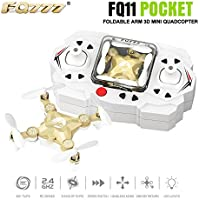 Littleice FQ777 FQ11 Drone With Foldable Arm 3D 2.4G 4CH 6 Axis Headless Mode Remote Control RC Quadcopter (Gold)
