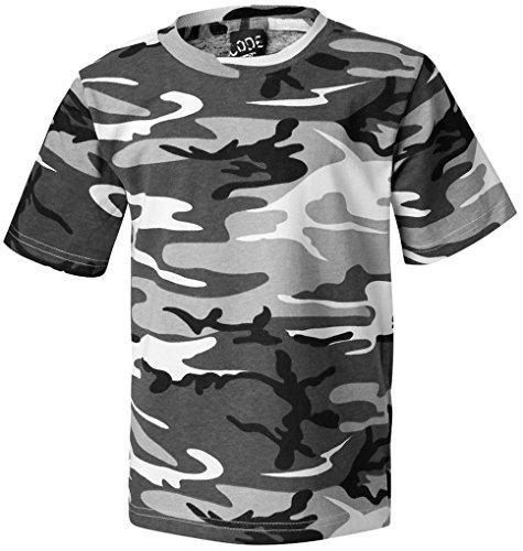 Urban Camouflage T-shirt - LAT Camoflauge Camo Urban Cotton T-shirt, XL, Urban (black & white)