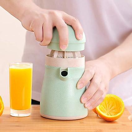 Alxcio Mano Exprimidor Manual Exprimidor Licuadora, Seguro y no tóxico Zumo de Naranja exprimidor,