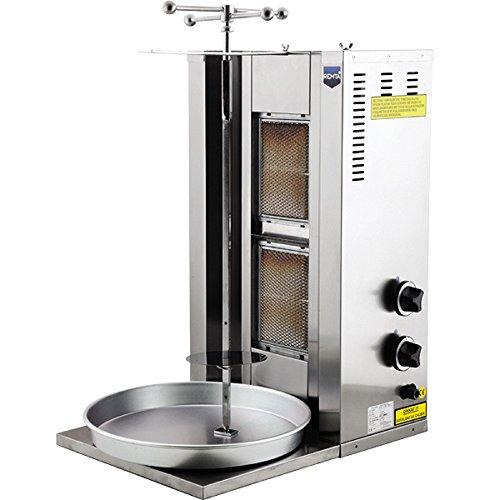 Gyro Gas Machine (Meat Capacity 20 kg / 44 lbs. 2 BURNER PROPANE GAS Spinning Grills Vertical Broiler Shawarma Gyro Doner Kebab Tacos Al Pastor Grill Machine Rotisserie)