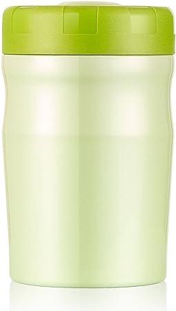 Zdzdz 500/ml in acciaio INOX a tenuta zuppa contenitore termico thermos lunch box contenitore per alimenti con cucchiaio pieghevole 14.5/×9CM Green