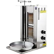 2 BURNER Spinning Grills Vertical Broiler PROPANE GAS Shawarma Gyro Doner Kebab Tacos Al Pastor Grill Machine Rotisserie