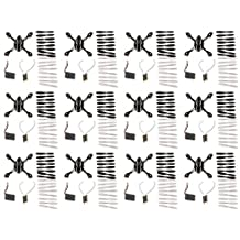 12 x Quantity of Hubsan X4 H107L Crash Pack H107-A37 Quadcopter Replacement Parts Propellers Blades Body Motors Battery Feet