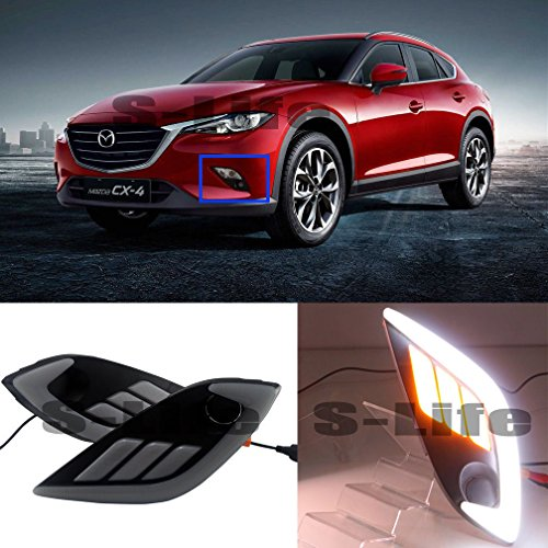 [해외]PURI Mazda CX-4 Daytime Running Dimming Lights DRL Yellow Turn Singal Lamps 2016-2017 / PURI Mazda CX-4 Daytime Running Dimming Lights DRL Yellow Turn Singal Lamps 2016-2017
