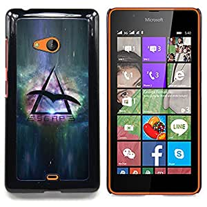 "Qstar Arte & diseño plástico duro Fundas Cover Cubre Hard Case Cover para Nokia Lumia 540 (Viaje Espacial Águila Universo Símbolo del triángulo"")"