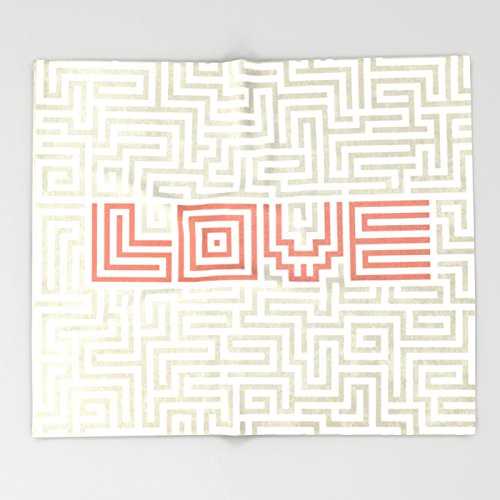 Society6 Love game Throw Blankets 88'' x 104'' Blanket