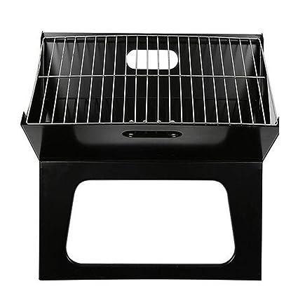 Parrilla plegable para computadoras portátiles - Mesa de barbacoa portátil internacional de carbón de leña Parrilla