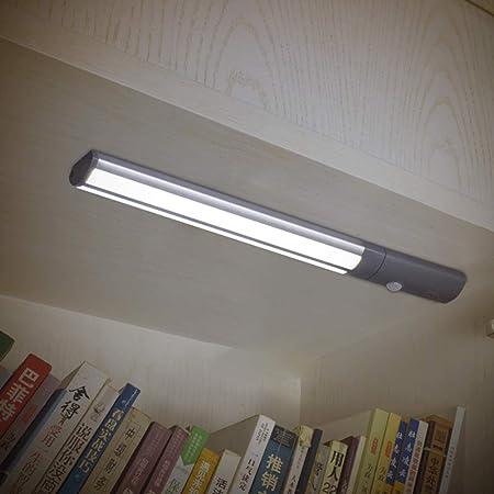 Luz LED para debajo del armario, recargable por USB, sensor de movimiento inalámbrico PIR para armario, armario, bajo escaleras, armario, luz nocturna: Amazon.es: Hogar