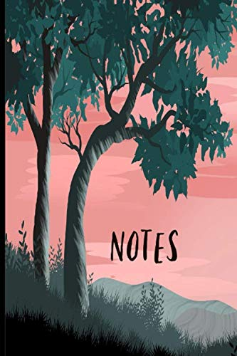 Notes: Forest Trees Camping Mountain Trekking Outdoors Book Notepad Notebook Composition and Journal Gratitude Dot Diary gift