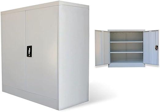 Aktenschrank Büroschrank Metallschrank Lagerschrank Schrank 2 Türen Stahl