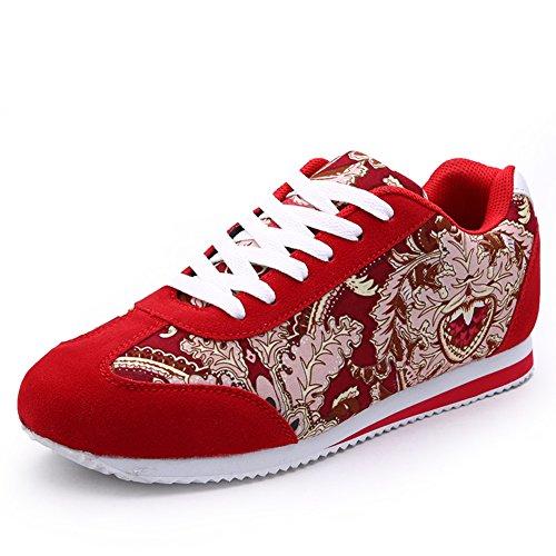 Calzado casual deportivo de verano/Zapatos de la pareja británica/Zapatos casual hombres salvajes Rojo