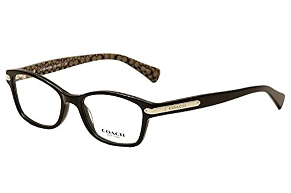 737f9b9bde Coach Women s HC6065 Eyeglasses Black Tortoise Tortoise 51mm at ...