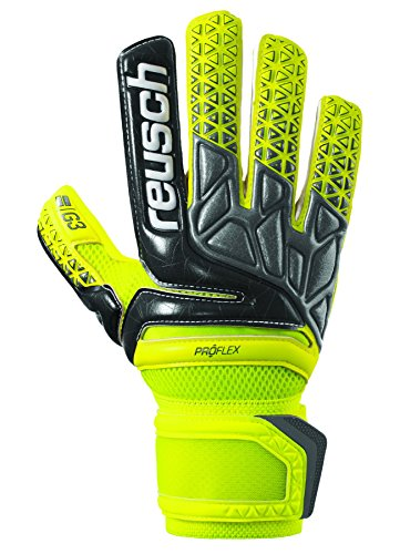 (Reusch Soccer Prisma Pro G3 Negative Cut Goalkeeper Gloves Yellow/Black, 7)