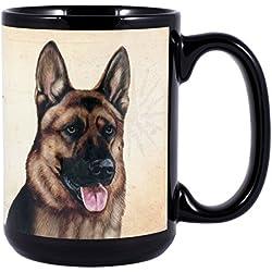 German Shepherd Dog Breed Traits Ceramic Stoneware 15 Ounce Mug