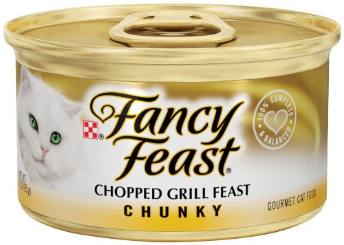 Fancy Feast Gourmet Cat Food, Chunky Chopped Grill Feast, 3-Ounce Cans (Pack of 24), My Pet Supplies