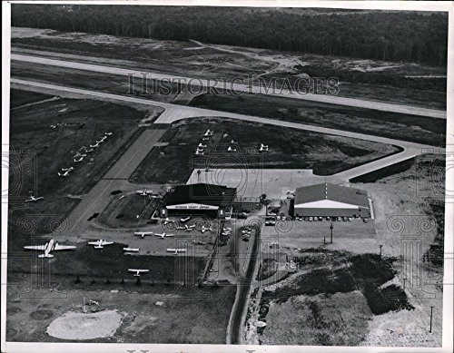 Vintage Photos Historic Images 1963 Press Photo Cuyahoga County Airport Aerial View - cvo02123-11 x 14.25 - Vintage Port 1963