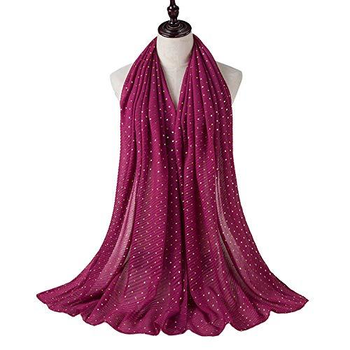 Fold Jersey Hijab Scarf Wrap Gold Glittering Scarf