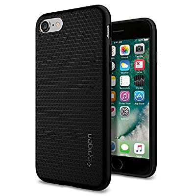 Spigen Liquid Armor iPhone 7 Case with Durable Flex and Easy Grip Design for IPhone 7 2016 - Black