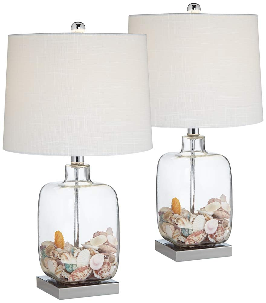 Square Clear Glass Fillable Table Lamp Set Of 2 Amazon Com