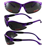 Cougar 2 AST Safety Glasses, Lot 12, Purple Frame, Polycarbonate Smoke Lens
