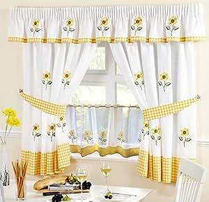 """Girasol 66""""x 54168cm x 137cm) cortinas para cocina & 24"""" Cafe Panel"""